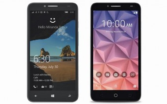 New Alcatel OneTouch Fierce XL renders reveal a Windows 10 and an Android version