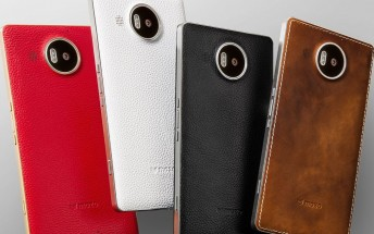 Mozo genuine leather back covers for Lumia 950 and 950 XL are up for pre-order