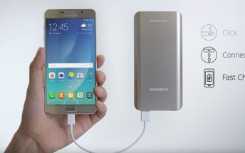 Samsung Galaxy Note 5 latest ad puts an emphasis on its battery pack with Fast Charging