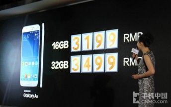 Samsung Galaxy A8 prices revealed