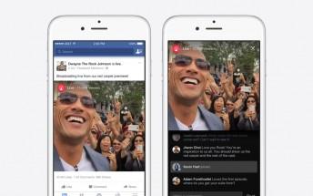 Facebook unveils live video broadcasts for celebrities