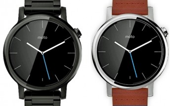Leaked press image of Moto 360's successor confirms two different sizes