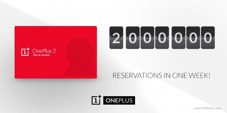 gsmarena_001 oneplus 2 passes 2 million invite requests after one week,Invite Oneplus
