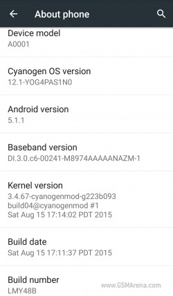 gsmarena 002 Cyanogen releases Android 5.1.1 update for OnePlus One, then pulls it