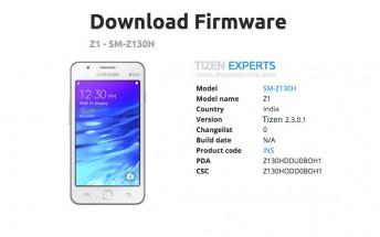 Samsung Z1 gets a small Tizen update