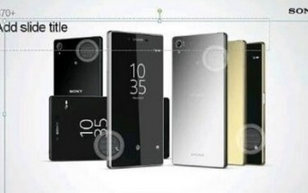 Leaked presentation slide shows Xperia Z5+ design