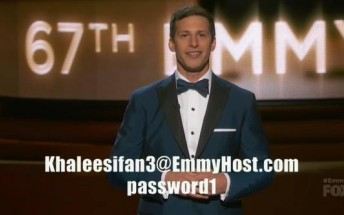Andy Samberg gave out a perfectly functional HBO Now login during the Emmys
