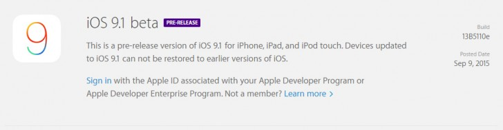 iOS 9.1 ready for developers, supports the new Apple goodies