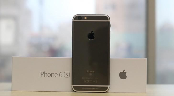 gsmarena 001 Apple iPhone 6s receives an aftermarket Black Gold coating
