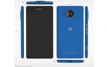 Microsoft Lumia 950 XL measures revealed in leaked factory render