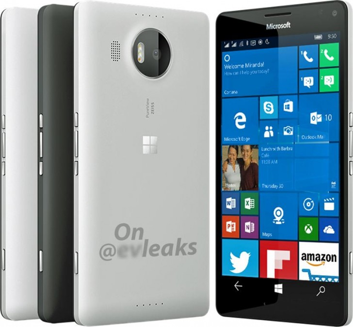 Photo: Leaked Microsoft Lumia 950 XL render shows the flagship in white