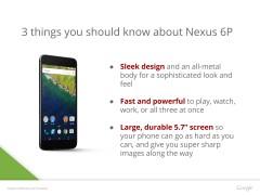 gsmarena 001 Leaked presentation confirm Nexus 6P design, specs, and colors