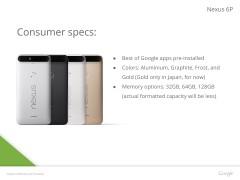 gsmarena 002 Leaked presentation confirm Nexus 6P design, specs, and colors