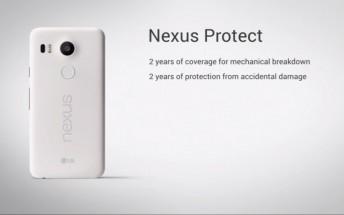 Nexus Protect is Google's premium warranty for Nexus 5X and Nexus 6P