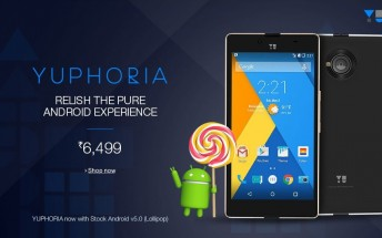 Yuphoria switches over to stock Android from Cyanogen, drops price