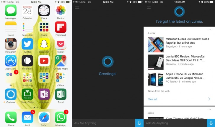 gsmarena 001 Cortana for iOS is now available to eager beta testers