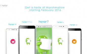 Some Huawei Honor phones to get Marshmallow update in February 2016