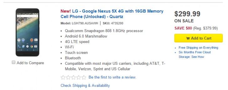 គេហទំព័រ Best Buy ចាប់ផ្តើមដាក់លក់ស្មាតហ្វូន Nexus 5 នៅថ្ងៃទី5 ខែនេះហើយ