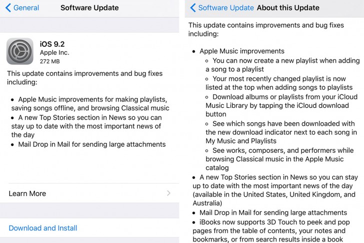 IOS 9.2 Finally Released for Apple Devices