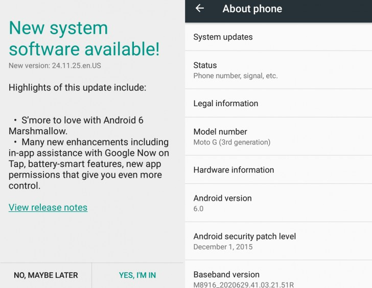 Moto Rolled Out Android 6.0 (Marshmallow) Update For His Devices
