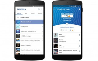 Pandora's new Thumbprint Radio is based on all of your thumbs up