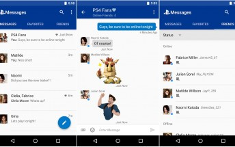 Sony releases a messenger app for PlayStation users