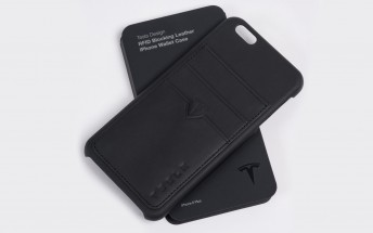 This leather iPhone case is made from Tesla's leftover upholstery