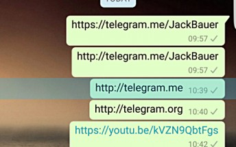 WhatsApp blocking Telegram links on Android
