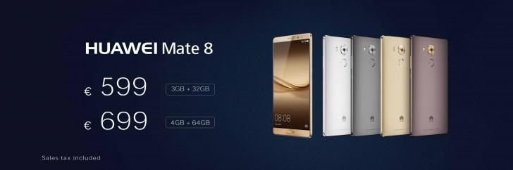 មកមើលតម្លៃរបស់ស្មាតហ្វូន Huawei Mate 8 និងប្រទេសដែលដាក់លក់ស្មាតហ្វូននេះ