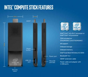 Intel Compute Stick: Core m3/m5