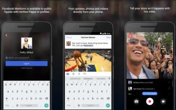 Facebook's celeb-focused Mentions app arrives on Google Play