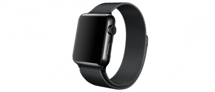 New official Space Black Milanese Loop Apple Watch band ...