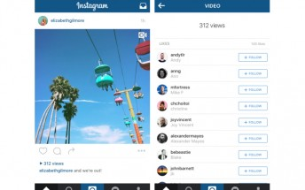 Instagram will show how many times videos are watched