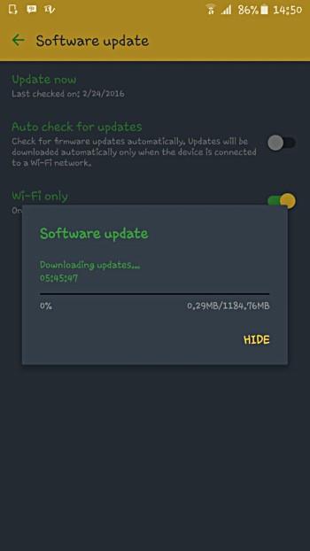 Android 6.0.1 cập nhật Marshmallow bắt đầu tung ra Samsung Galaxy S6 cạnh +