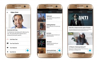 Samsung+ customer support app gets live video chat and remote assistance