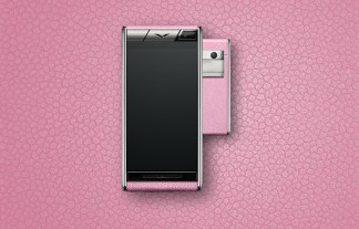 Vertu Aster: Orchid calf leather