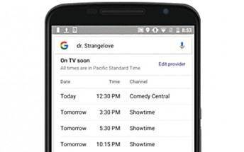 Google will soon start displaying live TV listings in search results