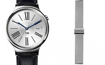 Huawei Watch with black leather strap plus stainless steel mesh band - all for $300