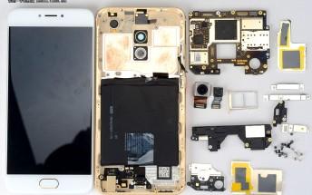 Meizu Pro 6 easily taken apart, extensive cooling found inside