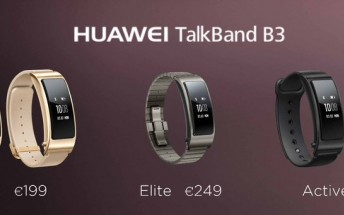 Huawei TalkBand 3 brings more styles, better audio