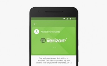 Verizon wants you to try Android Pay, offering 2GB of free data to those who do it