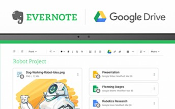 New Evernote update brings better Google Drive integration