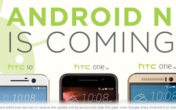 HTC 10, One M9, and One A9 will all get Android N updates