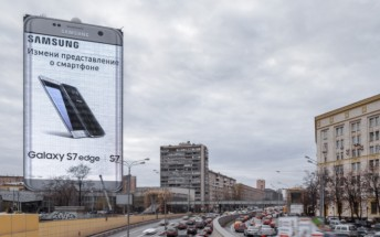 Galaxy S7 edge the size of a building is Samsung's latest ad in Moscow