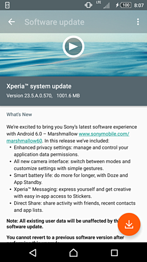 Sony Xperia Z2, Z3 and Z3 Compact receives Marshmallow update in India