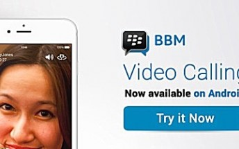 BBM's video chat feature is now available globally