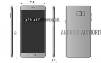 New Galaxy Note 6/7 render reveals device's dimensions, dual-edge screen