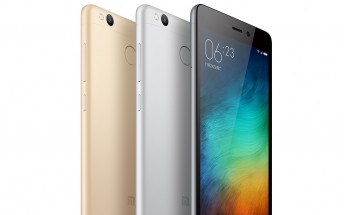 Xiaomi Redmi 3s is now official with Snapdragon 430 SOC and fingerprint reader