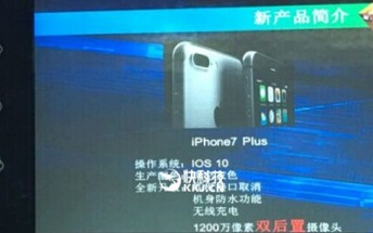 Slide shows iPhone 7 will have wireless charging and waterproofing