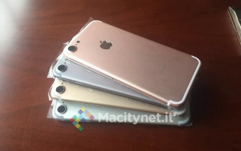 iPhone 7 color options photographed - no Space Black in sight